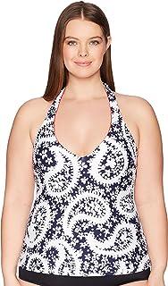 Anne Cole Women's Plus-Size Halter Tankini Swim Top