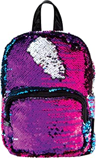 Style.Lab Magic Sequin Reversible Silver Fashion Mini Backpack, Multi