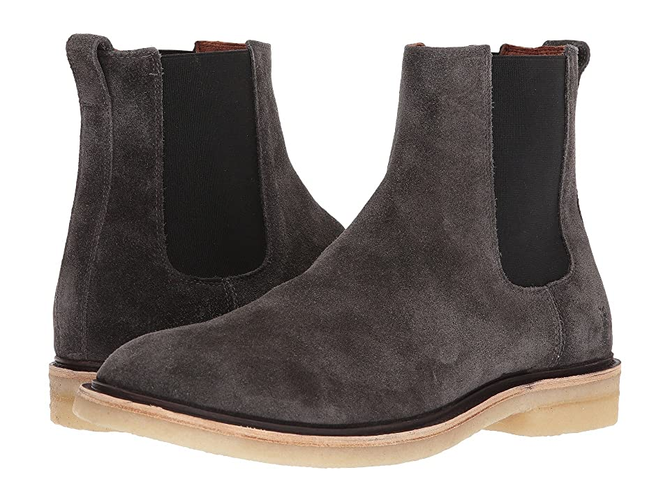 Frye Chris Crepe Chelsea (Slate Oiled Suede) Men's Pull-on Boots