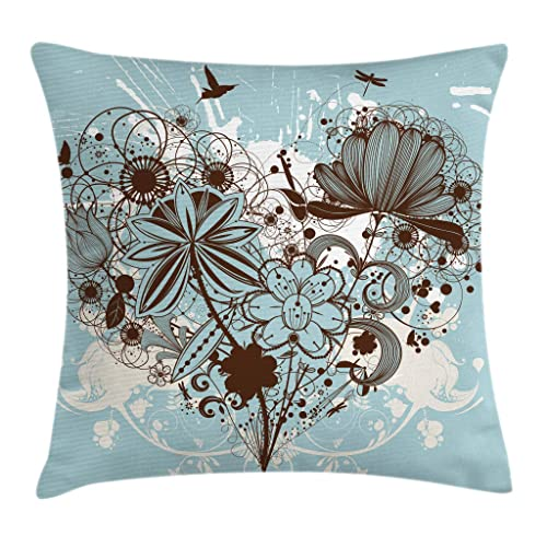 Decorative Pillows Brown And Blues Amazoncom