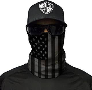 S A - 1 UV Face Shield - Blackout American Flag - Multipurpose Neck Gaiter,  Balaclava,  Elastic Face Mask for Men and Women