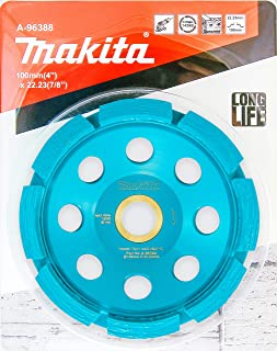 """Makita 1 Pack - 4"""" Diamond Cup Wheel For 4.5""""+ Grinders - Aggressive Low Vibration Grinding For Concrete & Masonry"""