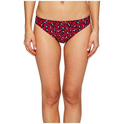Stella McCartney Leopard Classic Bikini Bottom (Navy/Salsa Red) Women