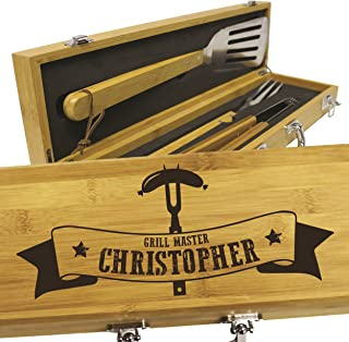 Personalized Gifts for Him - Custom Engraved Birthday, Anniversary, Wedding Gift for Men, Dad, Boyfriend, Husband - BBQ Grilling Gift