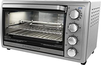BLACK+DECKER TO4314SSD WCR-076 Rotisserie Toaster Oven, 9X13, Silver