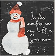 Kindred Hearts 10x10 in The Meadow Build a Snowman, Multicolor
