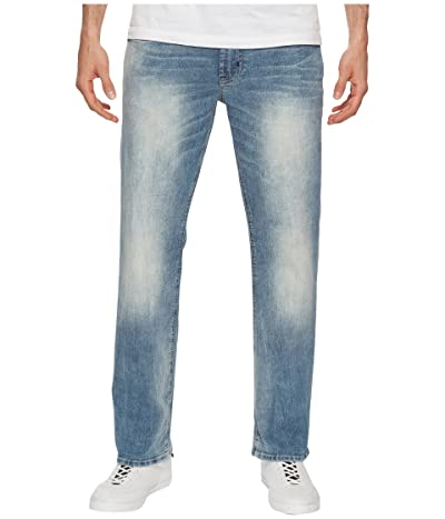 Buffalo David Bitton Driven-X Relaxed Straight Mercury in Sanded Worn Indigo (Sanded/Worn/Indigo) Men
