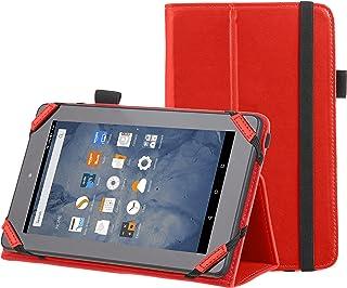 Amazonベーシック Kindle Fire スタンディングケース 7インチ (2015年モデル) レッド