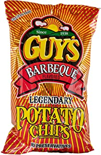 Guys BBQ Potato Chips – Barbecue potato chip with a unique blend of spices w/Legendary Taste – Chip and Dip in One Crunch ...