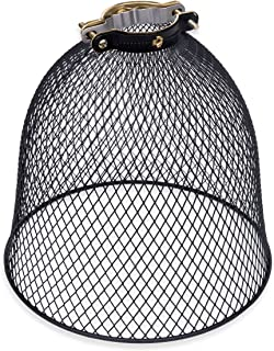 Rustic State Industrial Retro Style Mesh Wire Cage for Pendant Ceiling Lamp (Black)