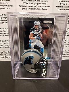 Christian McCaffrey Carolina Panthers Mini Helmet Card Display Collectible Case Auto Shadowbox Autograph