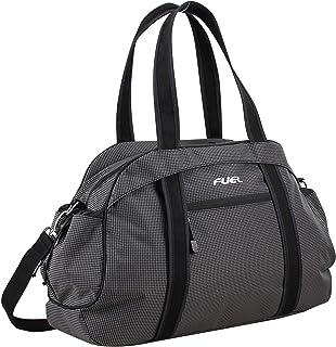 Fuel Sport Carryall Duffel For Gym, Travel or Weekend Gateway, Black Ripstop Print/Black Trim
