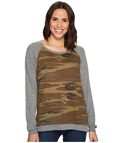 Alternative Printed Locker Room Pullover (Camo) Women