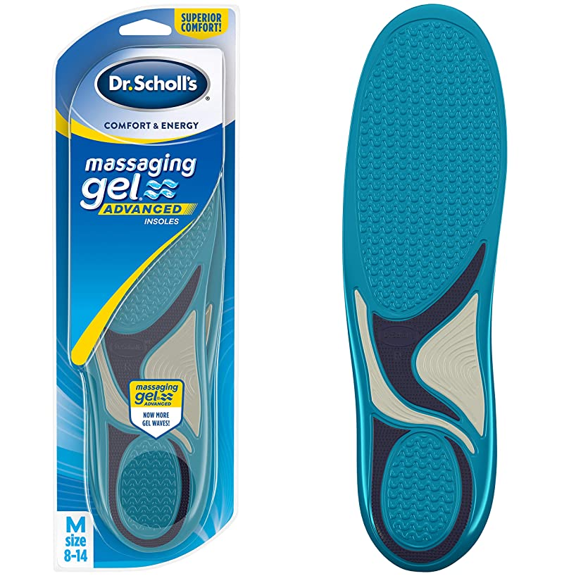 Dr. Scholl's MASSAGING GEL Advanced Insoles (Men's 8-14) // All-Day Comfort That Allows You to Stay on Your Feet Longer (Packaging May Vary)