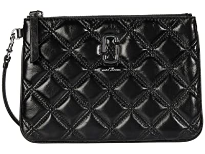 Marc Jacobs The Quilted Softshot Wristlet (Black) Handbags