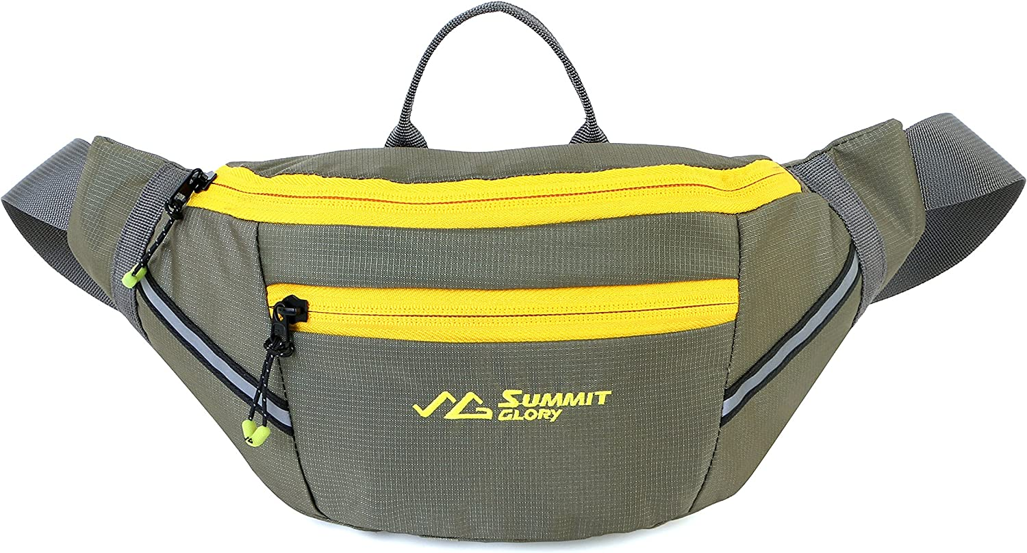 Summit Glory Lightweight Water Repellent Fanny Pack with Refective Stripe