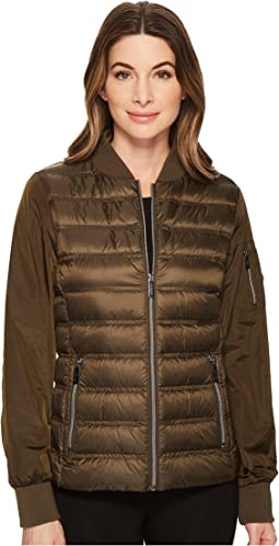 MICHAEL Michael Kors Zip Front Bomber Packable M823220F