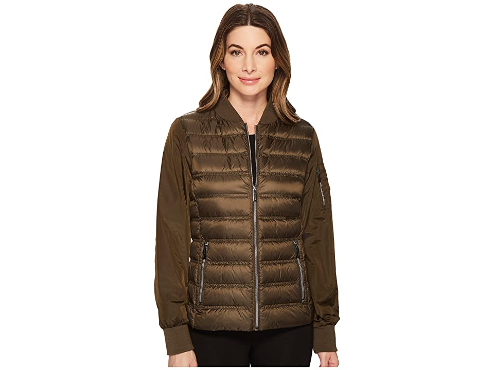 MICHAEL Michael Kors Zip Front Bomber Packable M823220F (Army) Women