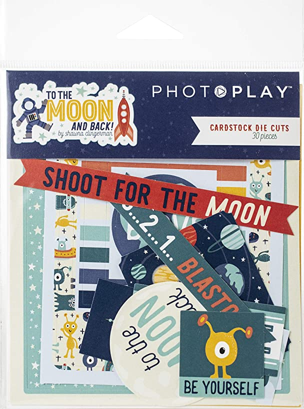 Photoplay Paper TTM9204 to The Moon and Back Ephemera Cardstock Die-Cuts 30/Pkg