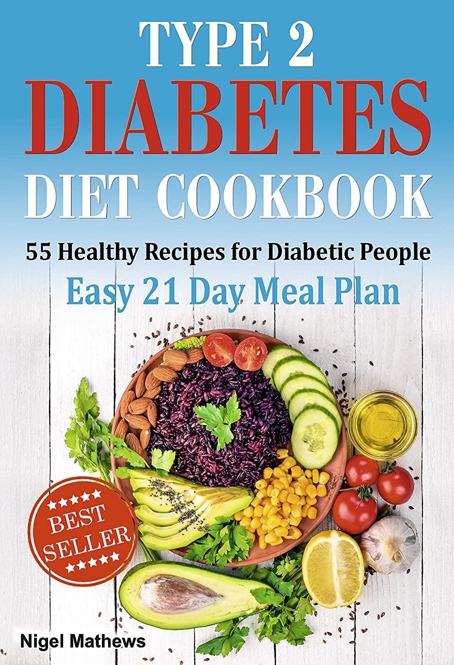 Type 2 Diabetes Diet Cookbook & Meal Plan: 55 Healthy Recipes for Diabetic People with an Easy 21 Day Meal Plan (type diabetes 2, diabetes type 2 diet, ... meals for diabetics) (English Edition)