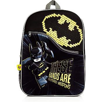 Lego Movie Batman School Backpack For Kids, 3D School Bag For Children, Lego Batman Black Rucksack, Travel Backpack or Gym Bag, Official Lego