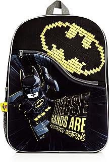 Lego Batman Mochilas Escolares Juveniles, Material Escolar para Niños, Mochila Escolar Negra Viaje Deporte, Diseño Batman 3D, Regalos Originales para Niños Niñas Adolescentes