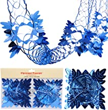 Christmas Concepts Pack of 2 9ft Foil Garland Festive Hanging Decorations - Christmas Decorations (Royal Blue)