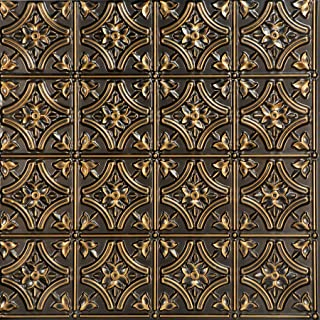 From Plain To Beautiful In Hours 150ag-24x24 Ceiling Tile, Antique Gold