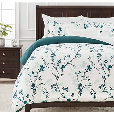 Amazon Com Mildly 100 Cotton Duvet Cover Sets Leaf Bedding Sets 3pcs Ultra Soft And Breathable 1 Queen Comforter Cover 2 Pillow Shams Kitchen Dining