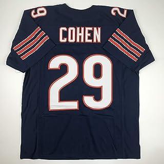 Unsigned Tarik Cohen Chicago Blue Custom Stitched Football Jersey Size Men`s XL New No Brands/Logos