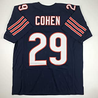Unsigned Tarik Cohen Chicago Blue Custom Stitched Football Jersey Size Men's XL New No Brands/Logos
