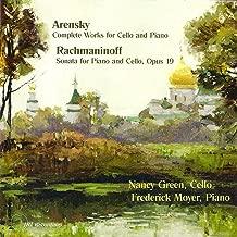 Arensky Complete Cello Works - Rachmaninoff Cello Sonata