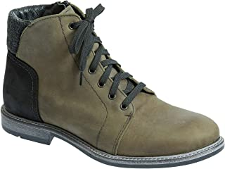 Overland Sheepskin Co Men's Clement Wool-Lined Waterproof Italian Leather Boots