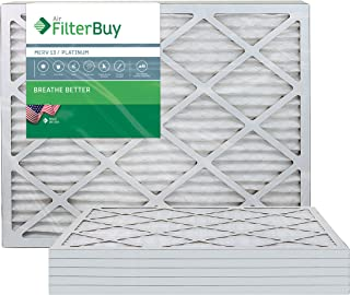 FilterBuy 20x30x1 MERV 13 Pleated AC Furnace Air Filter, (Pack of 6 Filters), 20x30x1 – Platinum