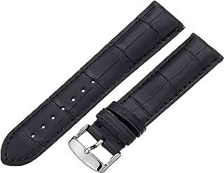 Hadley-Roma Men's MSM824RA-180 18-mm Black Genuine Alligator Leather Watch Strap