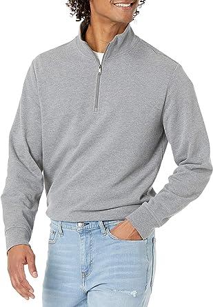 Amazon Essentials Men's Lightweight French Terry Quarter-Zip Mockneck Sweatshirt
