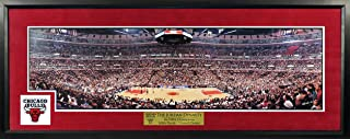 Chicago Bulls United Center NBA Finals Panoramic w/ Patch (Deluxe) Framed