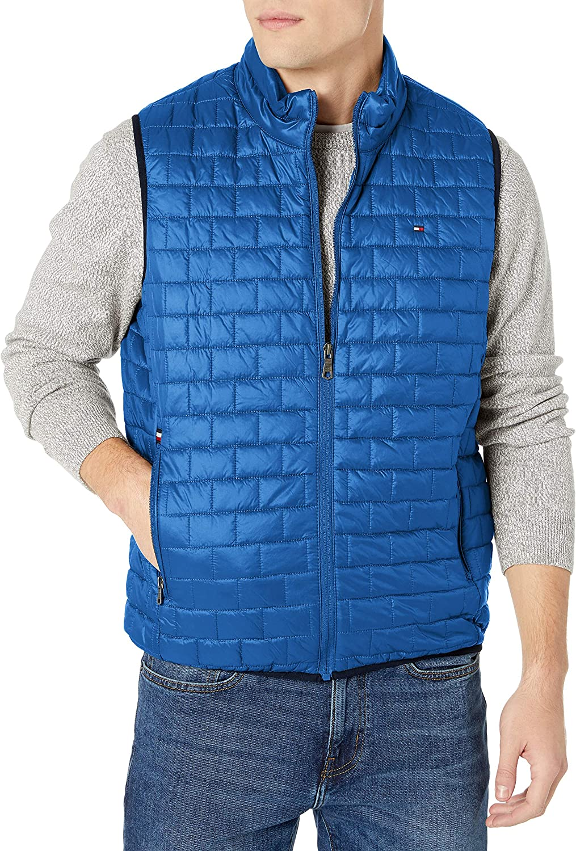 Tommy Hilfiger Mens Box Quilted Lightweight Ultra Loft Vest