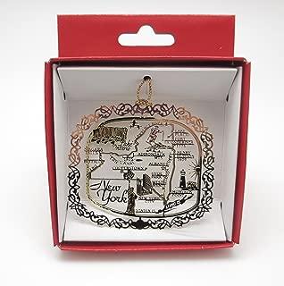 New York State Brass Christmas ORNAMENT Souvenir Gift