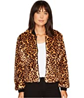 Splendid - Leopard Faux Fur Jacket
