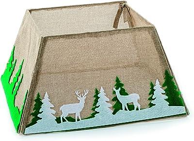 Árbol de Navidad falda tela caja falda del árbol del yute Natural ...