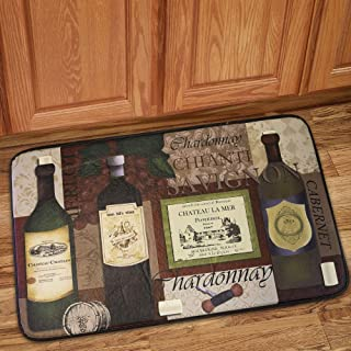 Sweet Home Collection Memory Foam Anti Fatigue Chef Design Kitchen Floor Mat Rug, Favorite Wine, 30