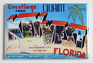 Greetings From Key West Florida Fridge Magnet (2 x 3 inches)