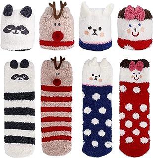 MaoXinTek, Calcetines de Invierno, Abrigados Esponjosos Suaves Calcetines de Felpa Espesa Animados Lindos Vellón de Coral Dormir Casa para Mujeres y Niñas