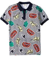 Kenzo Kids - All Over Printed Polo Shirt (Big Kids)