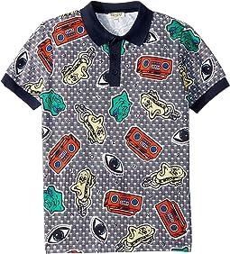 All Over Printed Polo Shirt (Big Kids)