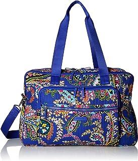 Vera Bradley womens Iconic Deluxe Weekender Travel Bag, Signature Cotton