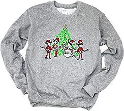 his & her threads Beatles Christmas Tree Gift Retro Graphic Long Sleeve Printed Sweatshirt Shirt