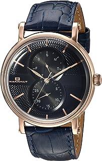 ساعة اوشينت لكسنجتون ستانلس ستيل كوارتز مع حزام من الجلد، لون أزرق، 21 (OC0343)