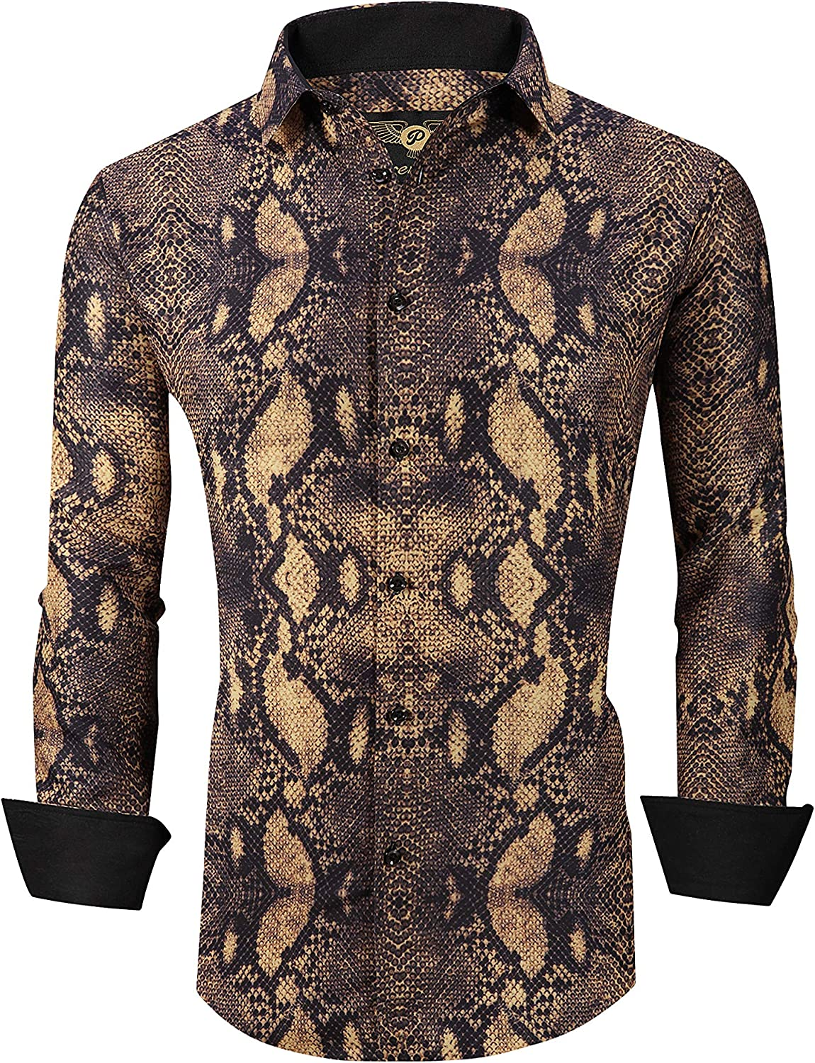 Mens Popular brand in the world New Orleans Mall Premiere Long Sleeve Button Down Designer Shirt Anima Dress